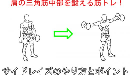 【肩の筋トレ】サイドレイズで肩に上手く刺激をいれるやり方と注意点