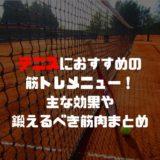 テニスにおすすめの筋トレメニュー!主な効果や鍛えるべき筋肉まとめ